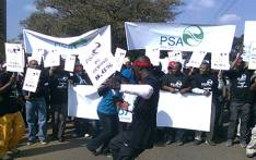 FILE: Members of the Public Servants Association (PSA) protest in Pretoria. Picture: EWN