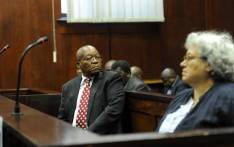 FILE: Former South African President Jacob Zuma, along with co-accused, Thales representative Christine Guerrier, appeared in the Durban High Court on 8 June 2018. Picture: Felix Dlangamandla/Pool.