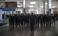 Rail enforcement officers at the Cape Town train station. The deployment of the City of Cape Town's new Rail Enforcement Unit has again been delayed. Picture: Cindy Archillies/EWN