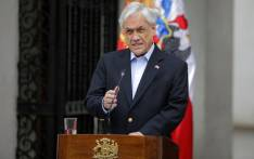 Chilean President Sebastian Pinera addresses the nation in Santiago, on 26 October 2019. Picture: AFP