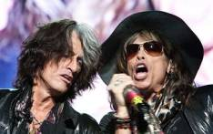 FILE: Aerosmith frontman Steve Tyler (R) with band member and guitarist Joe Perry. Picture: AFP