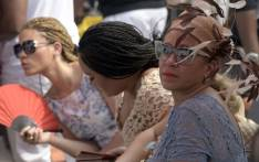 Ladies watch a polo match during the on-going Lagos International Polo tournament, in Lagos on 14 February 2016. Picture:: AFP