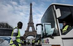 FILE: Bus drivers protest in Paris, France. Picture: AFP