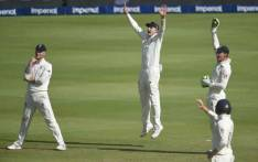 England's Joe Root (2ndR) appeals unsuccessfully as England's Ben Stokes (L) looks on during the second day of the fourth Test cricket match between South Africa and England at the Wanderers Stadium in Johannesburg on 25 January 2020. Picture: AFP.