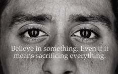 Colin Kaepernick for Nike's new ad campaign. Picture: Nike