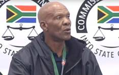 A screengrab of Ephraim Makhosini Dhlamini giving testimony at the state capture inquiry on 24 July 2019.