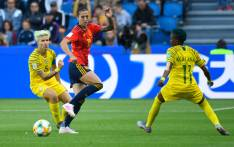FILE: South Africa's defender Janine Van Wyk (L) vies for the ball with Spain's forward Jennifer Hermoso during the France 2019 Women's World Cup Group B football match between Spain and South Africa, on 8 June 2019, at the Oceane Stadium in Le Havre, northwestern France. Picture: AFP