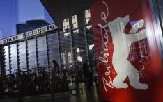 A poster depicting the logo of the Berlin film festival is pictured at the Potsdamer Platz during the 69th Berlinale film festival on 15 February 2019 in Berlin. Picture: AFP