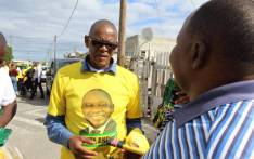 African National Congress (ANC) secretary-general Ace Magashule campaigns in Hermanus on 24 April 2019. Picture: @MYANC/Twitter.