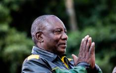 President Cyril Ramaphosa at the ANC celebrations outside Luthuli House on 12 May 2019. Picture: Kayleen Morgan/EWN