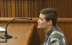 A YouTube screengrab of convicted rapist Nicholas Ninow testifying in the mitigation of sentence in the High Court in Pretoria.