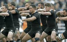 New Zealand's All Blacks rugby players perform the haka before start the Rugby Championship match against Argentina's Los Pumas at Jose Amalfitani stadium in Buenos Aires, Argentina on 20 July, 2019. All Blacks won 20-16. Picture: AFP.