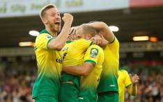 Norwich City players celebrate their win over Manchester City on 14 September 2019. Picture: @NorwichCityFC/Twitter