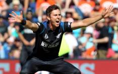 New Zealand's Trent Boult celebrates after taking a wicket against Scotland in the ICC Cricket World Cup ODI Test match on 17 February 2015. Picture: CWC website.