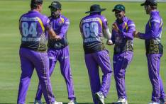 Dolphins players celebrate the fall of a wicket. Picture: @DolphinsCricket/Twitter