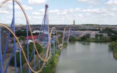 A screengrab of the Yukon Striker roller coaster at Wonderland Park outside of Toronto. Picture: CNN