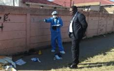 FILE: Gauteng Education MEC Panyaza Lesufi visits the scene where a grade eight pupil from Forest High School in the south of Johannesburg died after being stabbed. Picture: @Lesufi/Twitter.