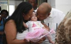 Baby Hope and her parents Dorianne and Leyley Daniels. Picture: Cindy Archillies/EWN
