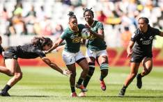 South Africa and New Zealand in action during their HSBC World Rugby Sevens match at the Cape Town Stadium on 13 December 2019. Picture: @WomenBoks/Twitter