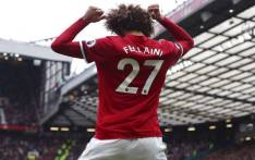 FILE: Manchester United's Marouane Fellaini celebrates a goal. Picture: @Fellaini/Twitter