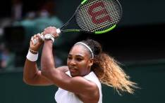 US player Serena Williams returns against Romania's Simona Halep during their women's singles final on day twelve of the 2019 Wimbledon Championships at The All England Lawn Tennis Club in Wimbledon, southwest London, on July 13, 2019.  Picture: AFP.