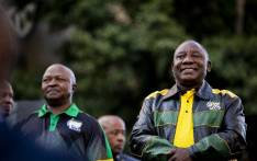 FILE: President Cyril Ramaphosa and Deputy President David Mabuza outside Luthuli House on 12 May. Picture: Kayleen Morgan/EWN