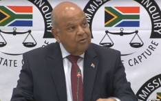 A screengrab of Public Enterprises Minister Pravin Gordhan appearing at the Zondo commission of inquiry on 20 November 2018.