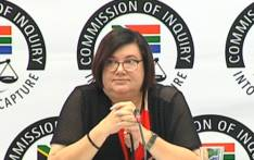 Former Free State Finance MEC Elizabeth Rockman testifying at the state capture commission of inquiry in Parktown, Johannesburg, on 16 October 2019. Picture: YouTube screengrab
