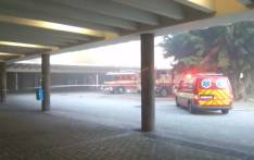 City of Cape Town's Fire and Rescue Service personnel respond to a fire at the Cape Town station. Picture: Ayanda Felem/EWN.
