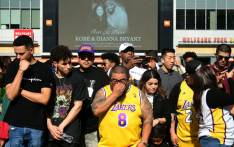 FILE: Fans gather to mourn the death of NBA legend Kobe Bryant outside Staples Center in Los Angeles, California on 27 January 2020. Picture: AFP