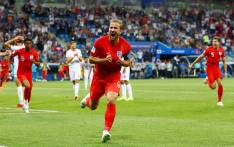 FILE: England captain Harry Kane celebrates his goal during the World Cup match against Tunisia on 18 June 2018. Picture: @England/Twitter
