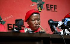 EFF leader Julius Malema addresses the media in Johannesburg on 10 April 2019. Picture: Kayleen Morgan/EWN.