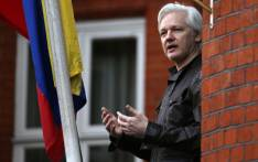 FILE: In this file photo taken on 19 May 2017 Wikileaks founder Julian Assange speaks from a balcony at the Embassy of Ecuador in London. Picture: AFP