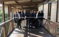 Gauteng Education MEC Panyaza Lesufi hands over the newly built walkway at  Hoёrskool Driehoek in Vanderbijlpark on 23 April 2019. Picture: @EducationGP/Twitter