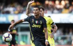 Juventus' Portuguese forward, Cristiano Ronaldo controls the ball during the Italian Serie A football match AC Chievo vs Juventus at the Marcantonio-Bentegodi stadium in Verona on 18 August 2018. Picture: AFP.