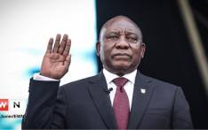 Cyril Ramaphosa at his inauguration on 25 May 2019. Abigail Javier