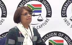 A screengrab shows SAA's financial risk head Cynthia Stimpel at the state capture inquiry on 13 June 2019.