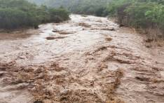 The Mvoti River on 14 November 2019 after heavy rain in the area. Picture: @SAPoliceService/Twitter