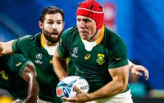 South Africa's Schalk Brits take the ball upfield during a 2019 Rugby World Cup match. Picture: @Springboks/Twitter