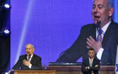 Israeli Prime Minister Benjamin Netanyahu addresses supporters at his Likud party's electoral campaign headquarters early on 18 September 2019. Picture: AFP