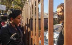 MMC Mpho Phalatse confronts the landlord of an illegal pre-school where two children died. Picture: Kayleen Morgan/EWN