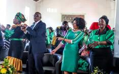 (From left) ANC NEC members Lindiwe Zulu, Ace Magashule, Lindiwe Sisulu, and Bathabile Dlamini sing and dance at Waaihoek Methodist Church in Bloemfontein on 18 May 2019 during the commemoration of late ANC stalwart Walter Sisulu. Picture: @MYANC/Twitter