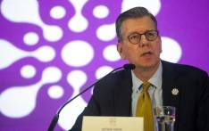 The Director of Communication and Strategic Partnership in UNFPA, Arthur Erken, gives his remarks in a press conference at the Nairobi Summit on the International Conference on Population and Development (ICPD25) on 14 November 2019 in Nairobi, Kenya. Picture: AFP