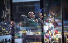 Chief Justice Mogoeng Mogoeng and new President of SA Cyril Ramaphosa at Loftus Versfeld Stadium in Pretoria during the presidential inauguration. Picture: Abigail Javier/EWN