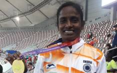 Indian 800m athlete Gomathi Marimuthu. Picture: @GomathiMarimutu/Twitter