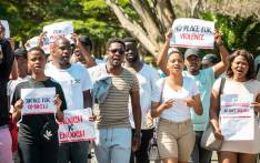 FILE: UKZN students marched after the murder of Simukelo Zondi. Zondi was allegedly murdered by a fellow student, Khanyile Nzimande, who accused him of being a zombie. Picture: UKZN/facebook.com