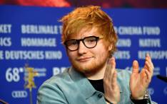 British singer-songwriter Ed Sheeran applauds during a press conference for the film 'Songwriter' presented in the 'Berlinale special gala' category during the 68th edition of the Berlinale film festival in Berlin on 23 February 2018. Picture: AFP