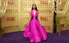 'Pose' star Mj Rodriguez opted for a hot pink Jason Wu gown. Picture: Emmys/facebook.com