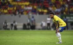 Brazil's Neymar looks on during a friendly football match against Qatar at the Mane Garrincha stadium in Brasilia on 5 June, 2019, ahead of Brazil 2019 Copa America. Picture: AFP.