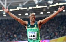 FILE: Bronze medallist South Africa's Ruswahl Samaai celebrates after the final of the men's long jump athletics event at the 2017 IAAF World Championships at the London Stadium in London on 5 August 2017. Picture: AFP